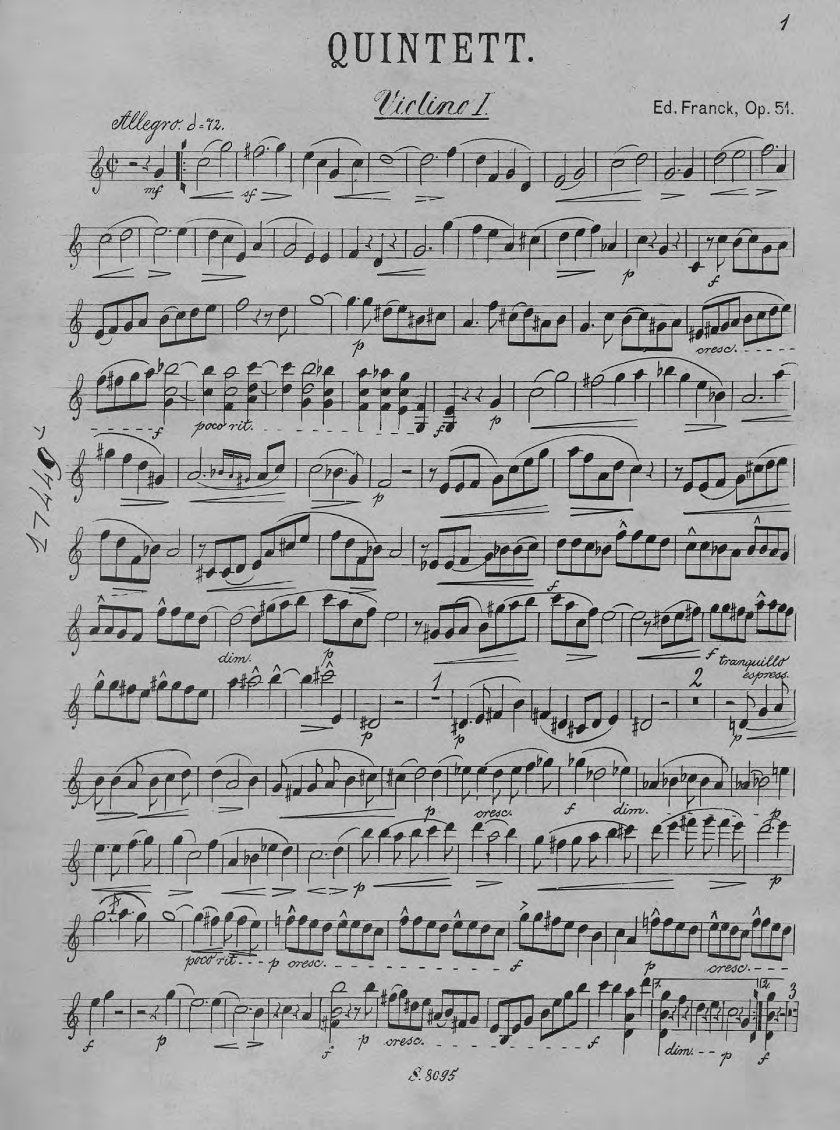 Сезар Франк Quintett сезар франк sonate pour violon et piano