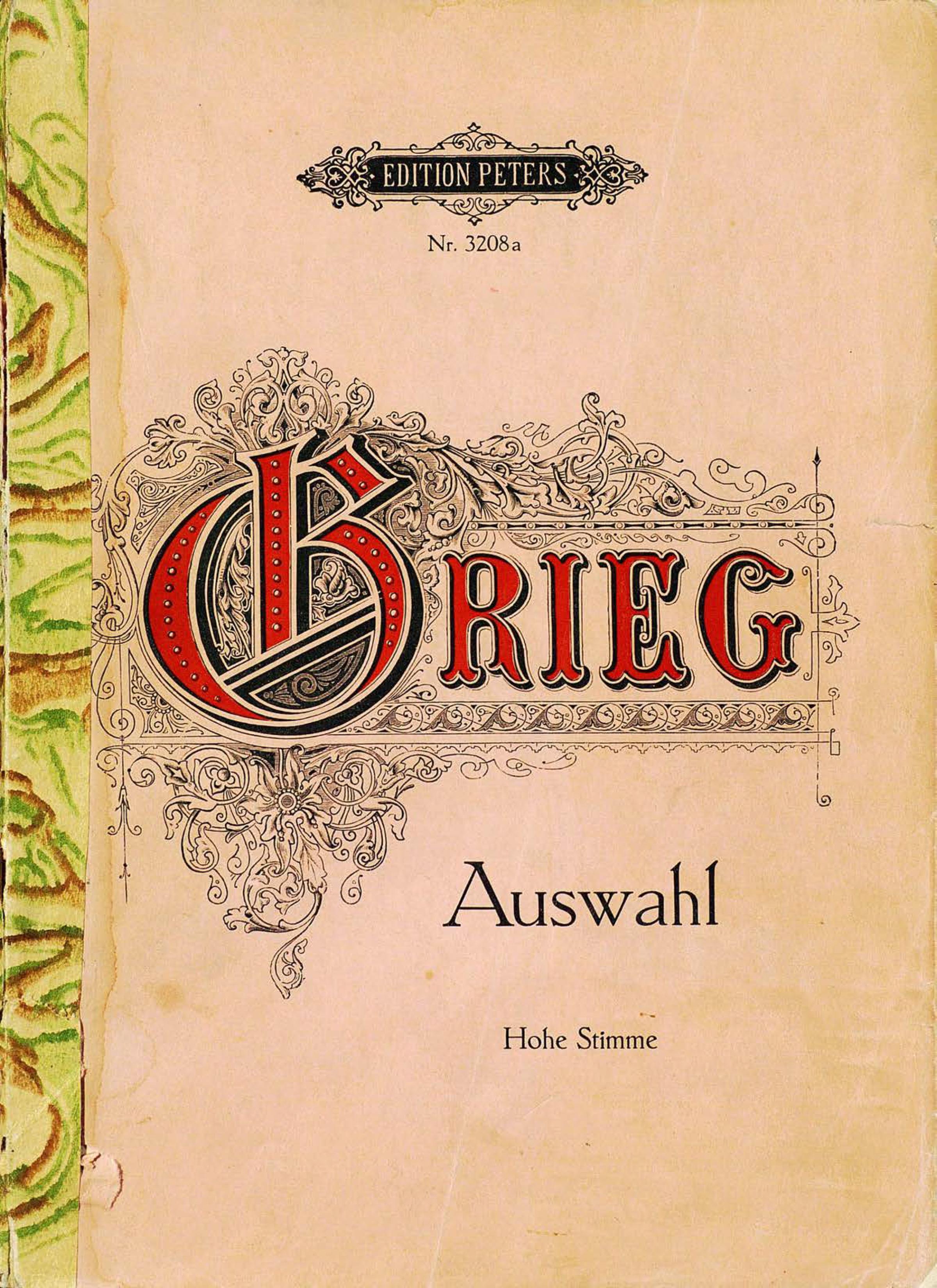 Эдвард Григ 60 ausgewahlte Lieder f abt 3 lieder op 436