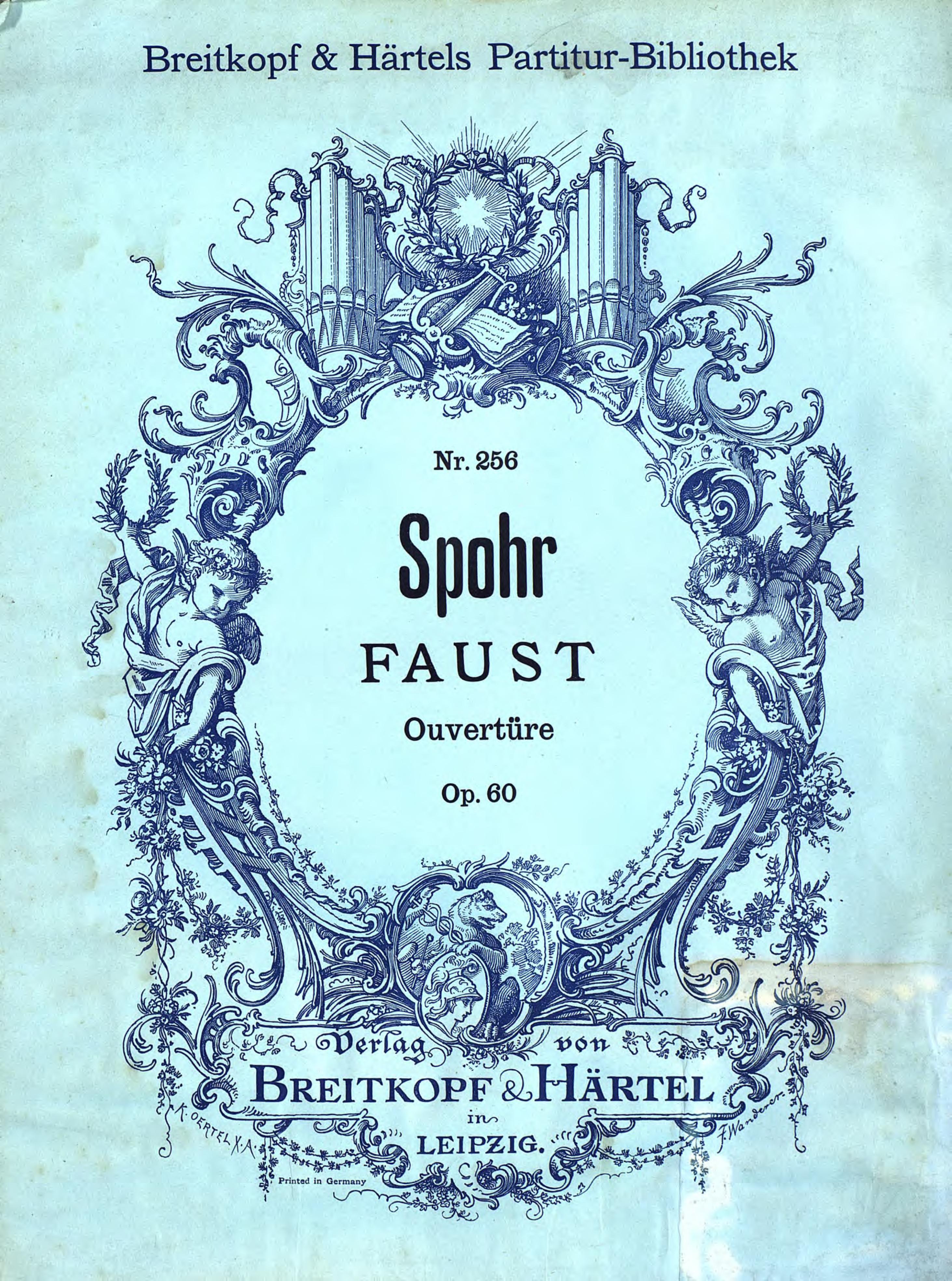 Людвиг Шпор Ouverture zur Oper Faust европейские редкие монеты набор из 16 открыток