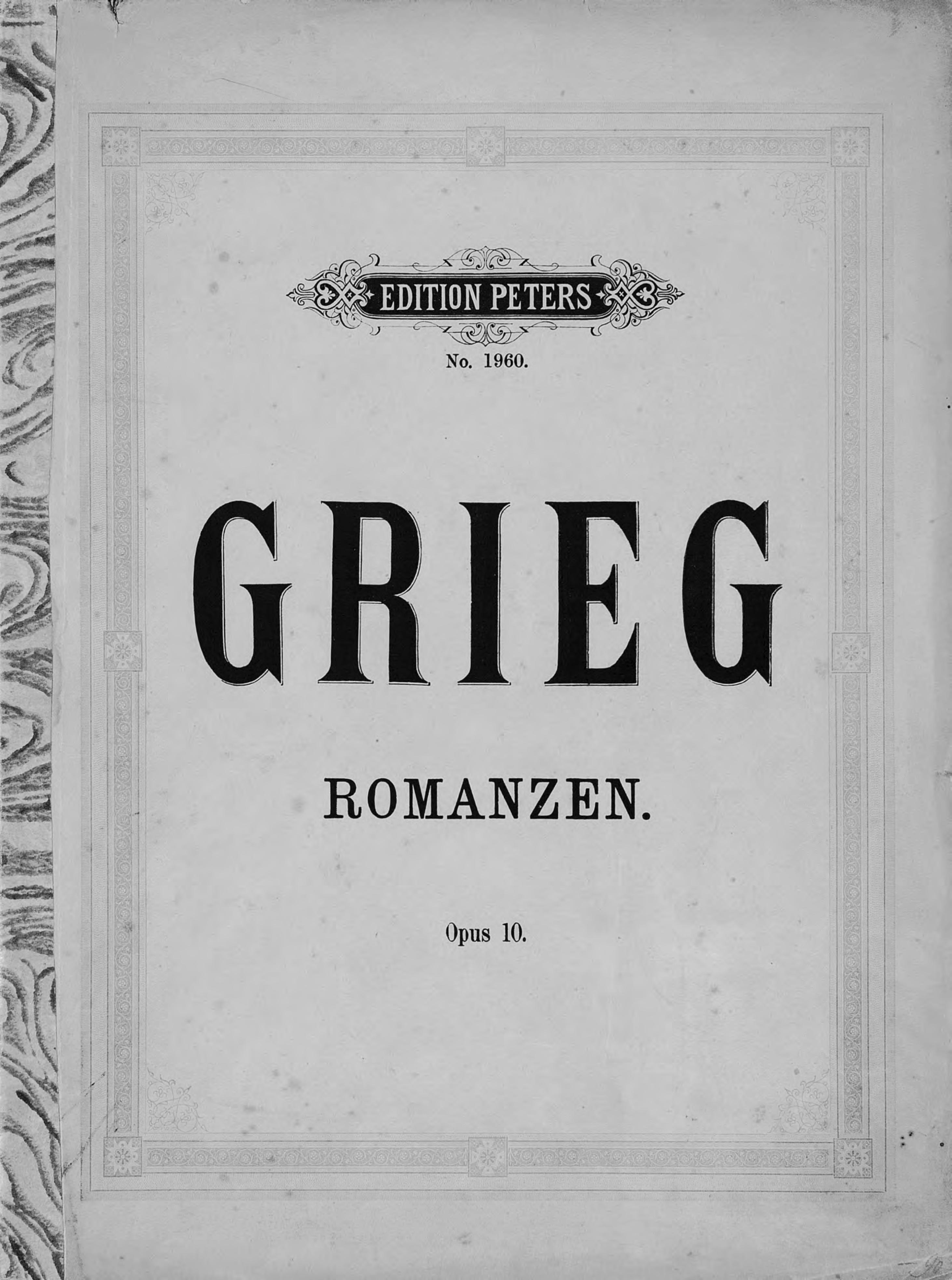 цена на Эдвард Григ Vier Romanzen fur eine Singstimme mit Klavierbegleitung v. Ed. Grieg