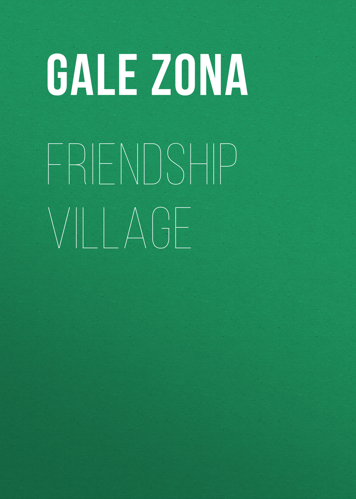 Gale Zona Friendship Village gale zona neighborhood stories