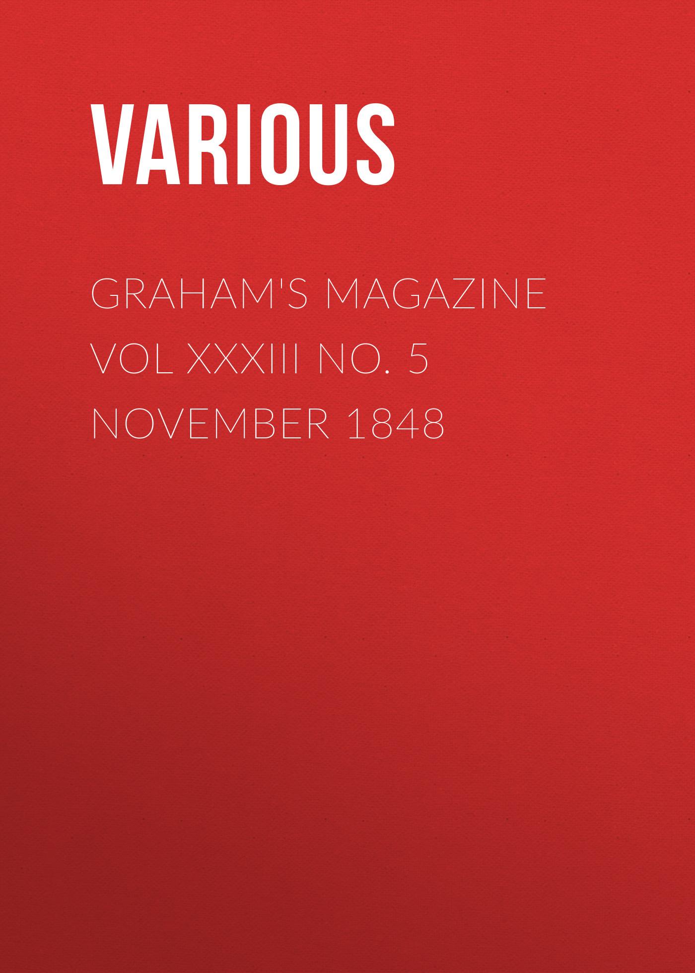 Various Graham's Magazine Vol XXXIII No. 5 November 1848 calendar november 2015