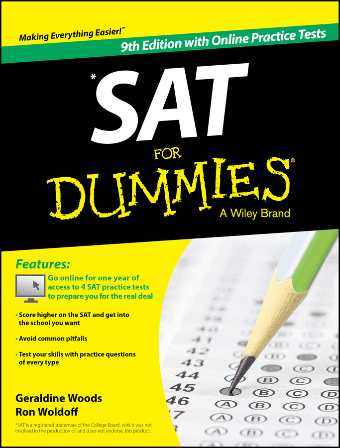 Geraldine Woods SAT For Dummies, with Online Practice jon reider admission matters what students and parents need to know about getting into college
