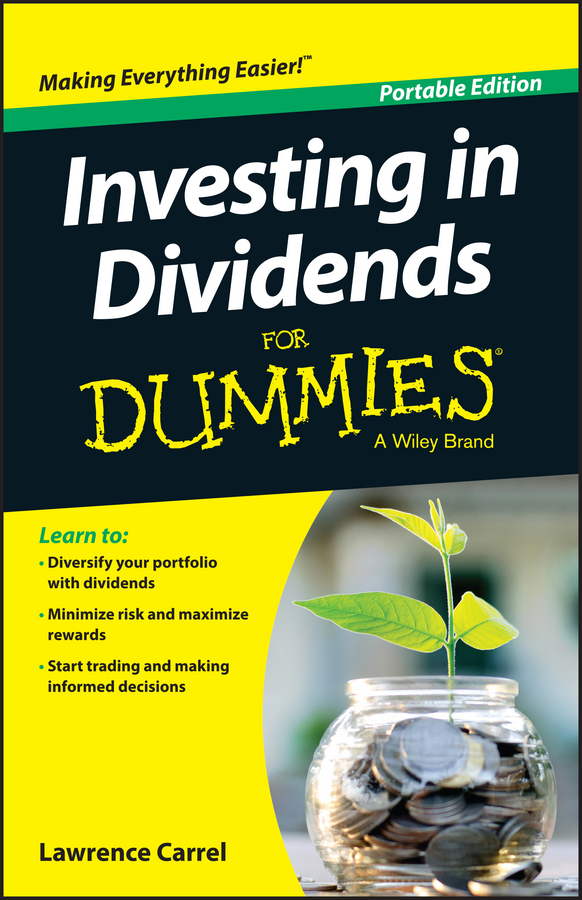 Lawrence Carrel Investing In Dividends For Dummies quarterback your investment plan