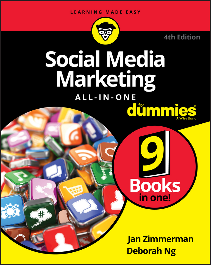 Jan Zimmerman Social Media Marketing All-in-One For Dummies цена в Москве и Питере