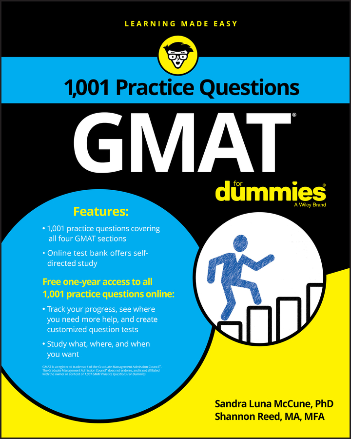 Shannon Reed 1,001 GMAT Practice Questions For Dummies geraldine woods sat for dummies with online practice