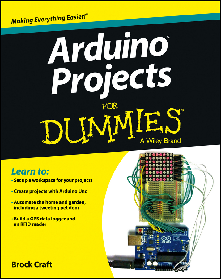 Brock Craft Arduino Projects For Dummies prototyping shield pcb board for arduino works with official arduino boards