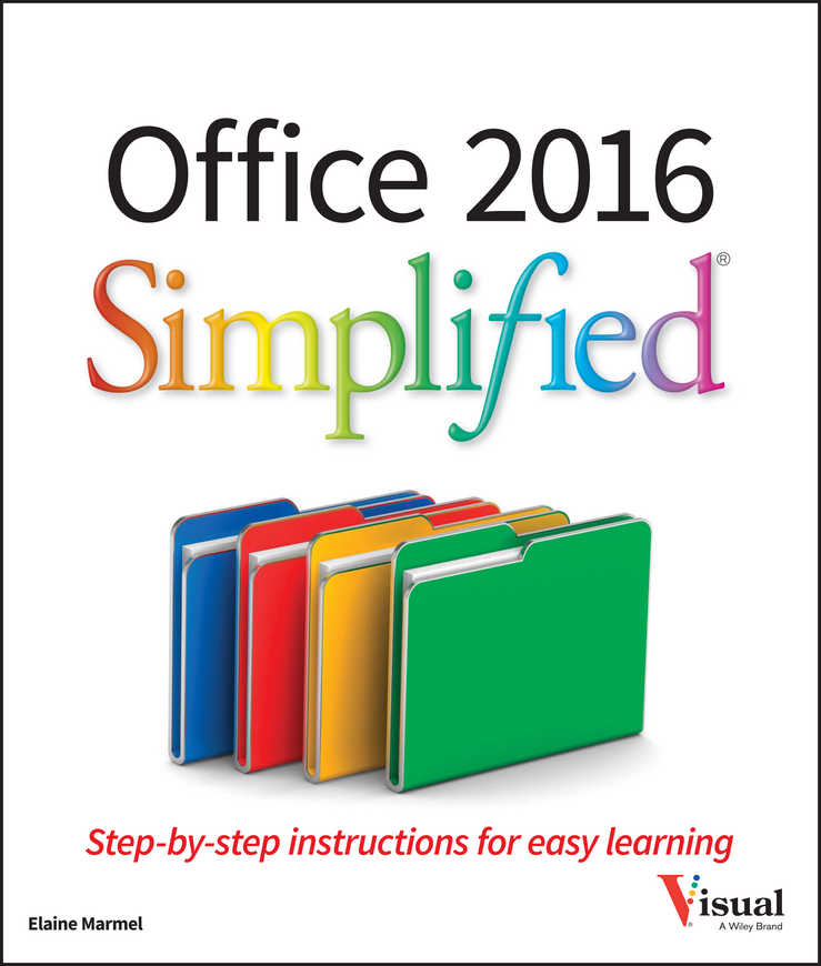 Elaine Marmel Office 2016 Simplified elaine marmel word 2010 simplified