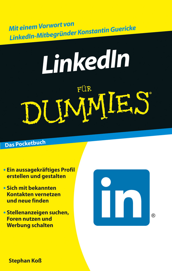 Stephan Koß LinkedIn für Dummies donna serdula linkedin profile optimization for dummies