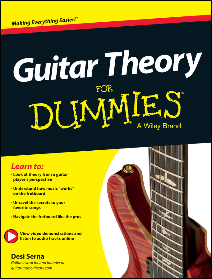 Desi Serna Guitar Theory For Dummies. Book + Online Video & Audio Instruction afanti music electric guitar stand jkv 120