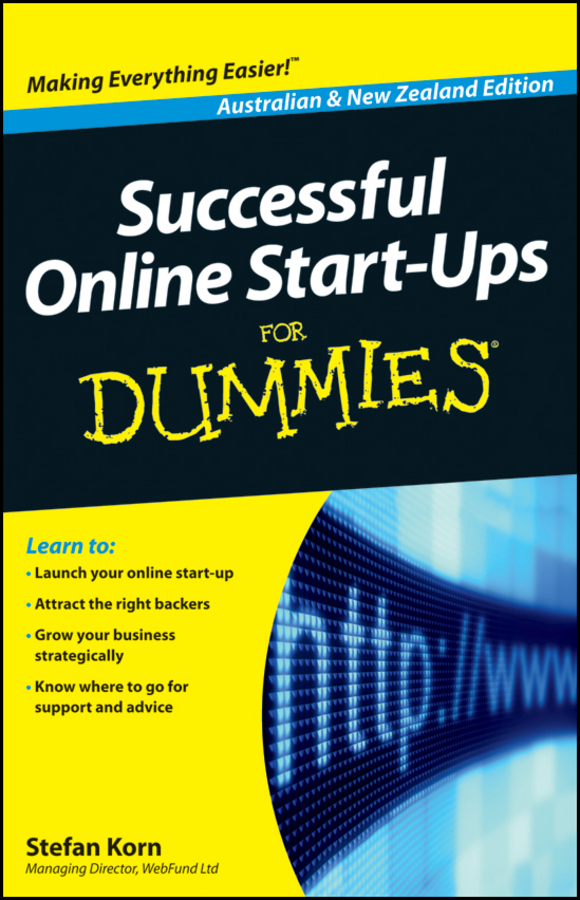 Stefan Korn Successful Online Start-Ups For Dummies cooking up a business
