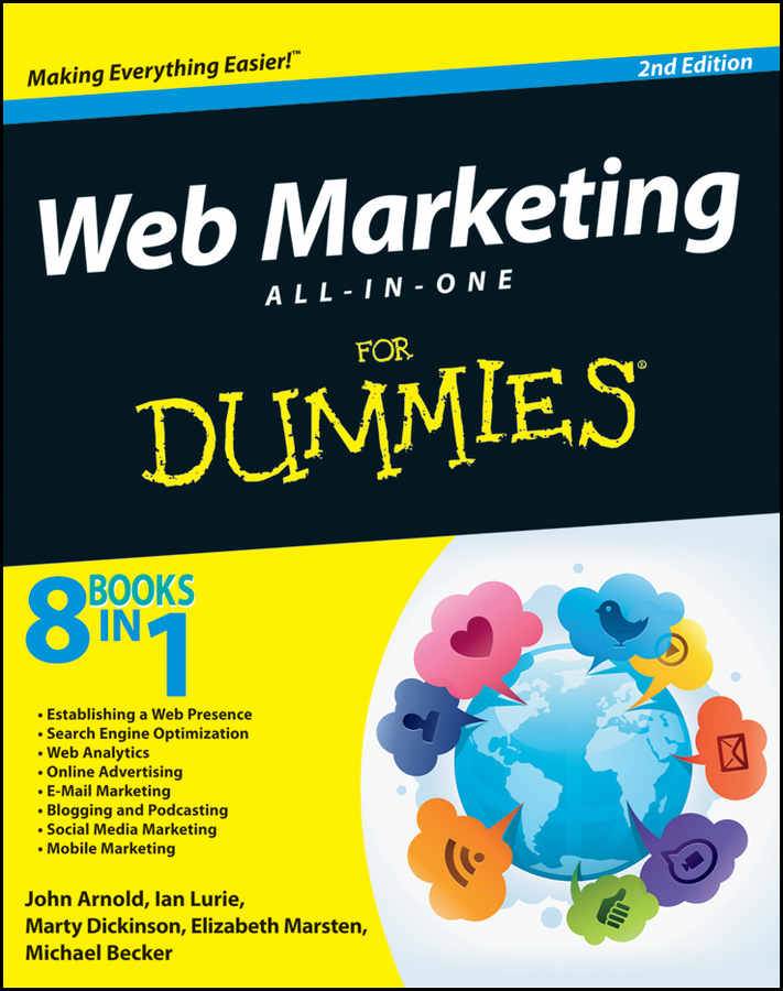 John Arnold Web Marketing All-in-One For Dummies sue jenkins web design all in one for dummies