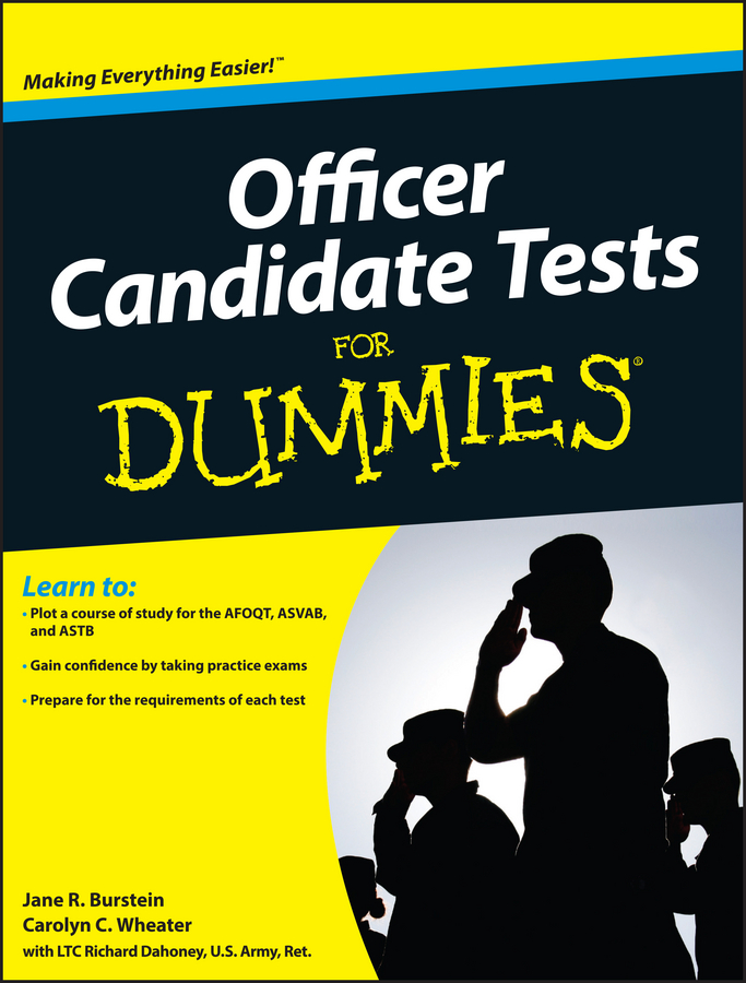 Jane Burstein R. Officer Candidate Tests For Dummies dorothy elbury the officer and the lady