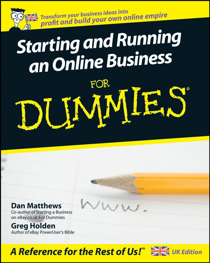 Greg Holden Starting and Running an Online Business For Dummies you choose