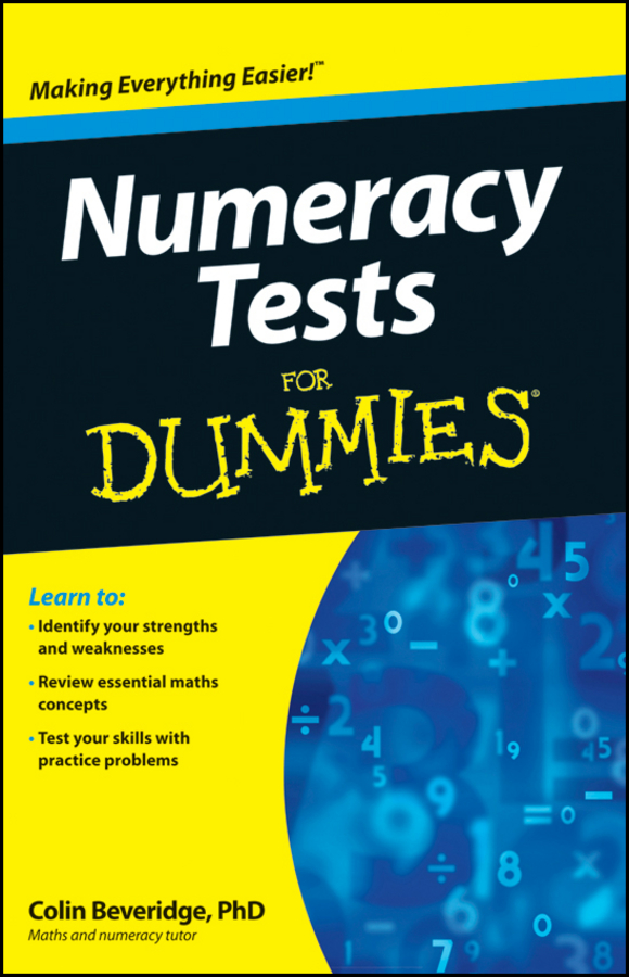 Фото - Colin Beveridge Numeracy Tests For Dummies gre for dummies with online practice tests