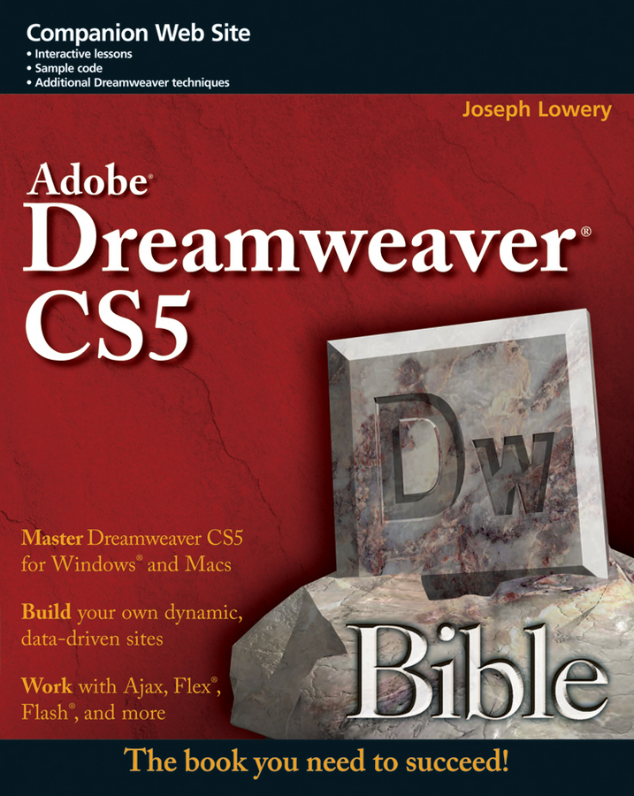 Joseph Lowery Adobe Dreamweaver CS5 Bible janine warner dreamweaver cs3 for dummies isbn 9780470175378