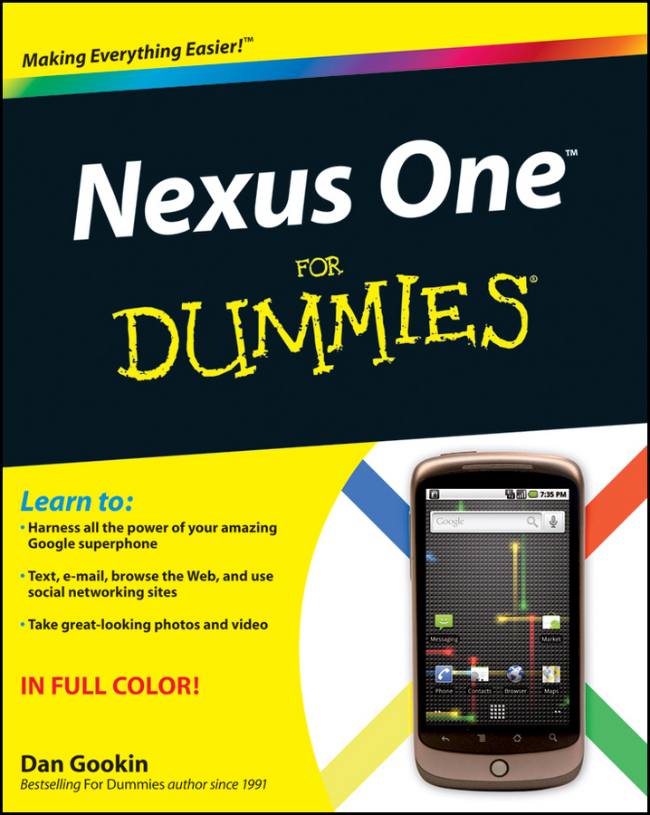 Dan Gookin Nexus One For Dummies dan gookin troubleshooting and maintaining your pc all in one for dummies