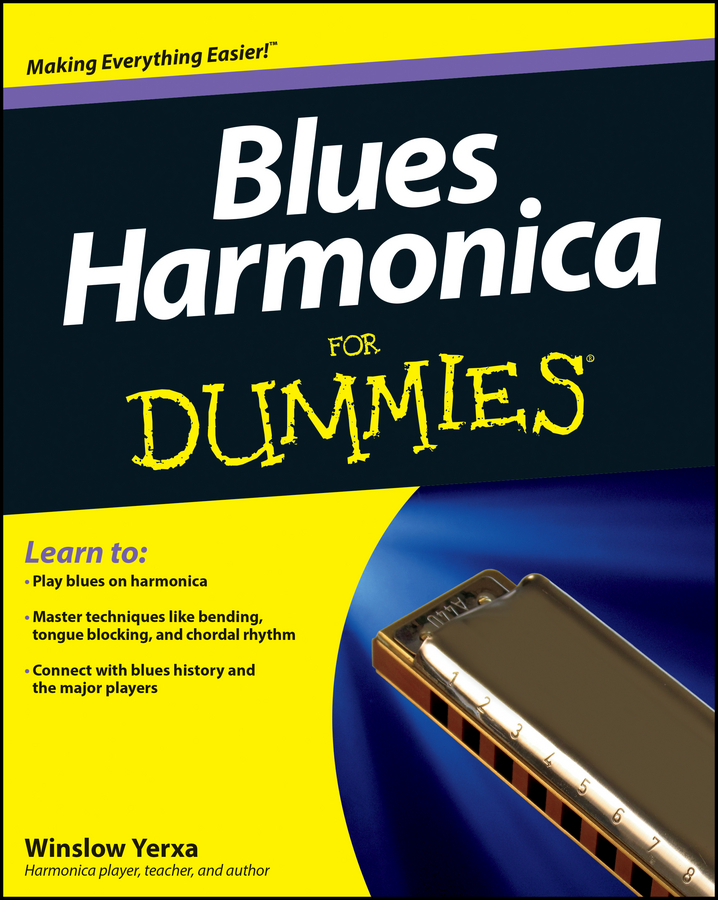 Winslow Yerxa Blues Harmonica For Dummies mini harmonica necklace silver brown