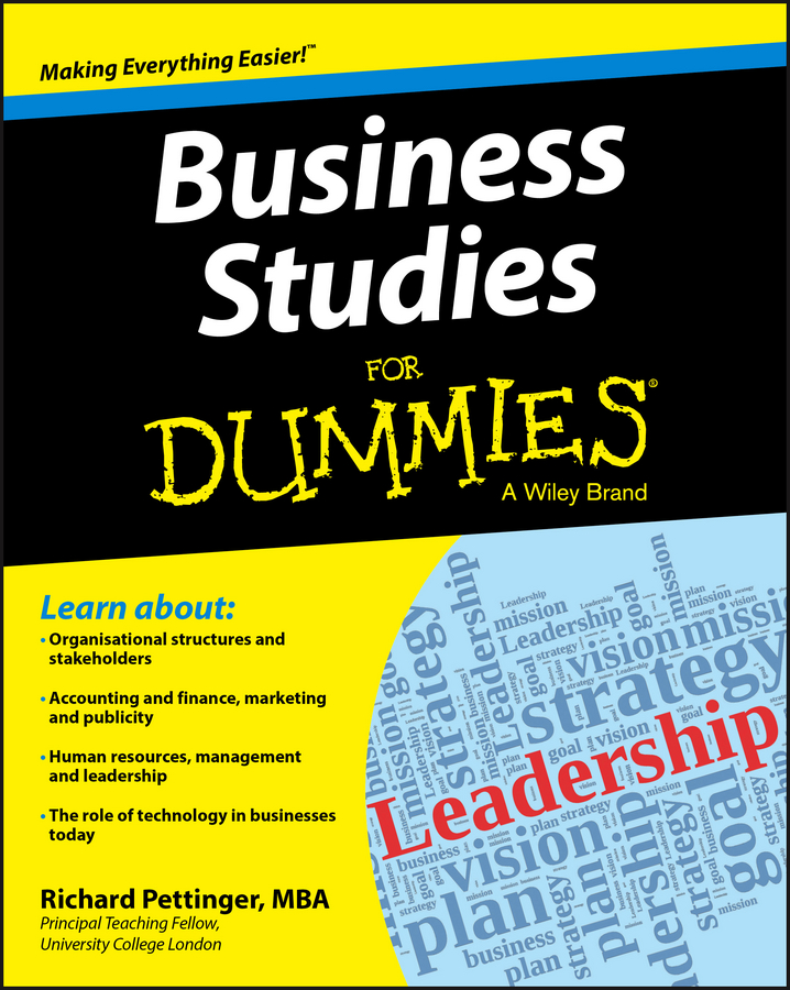 Richard Pettinger Business Studies For Dummies peter economy home based business for dummies