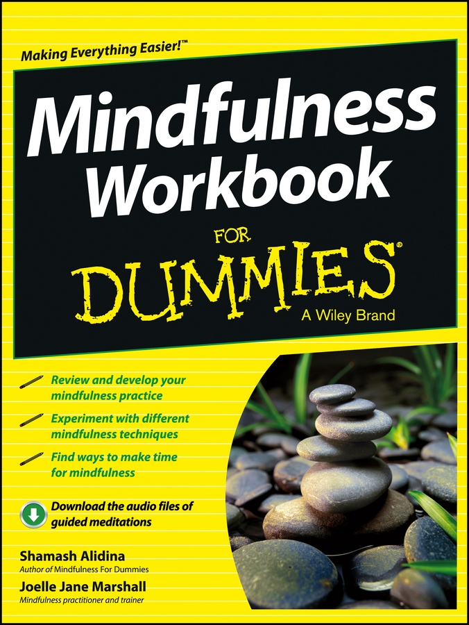 Shamash Alidina Mindfulness Workbook For Dummies a mindfulness guide for the frazzled
