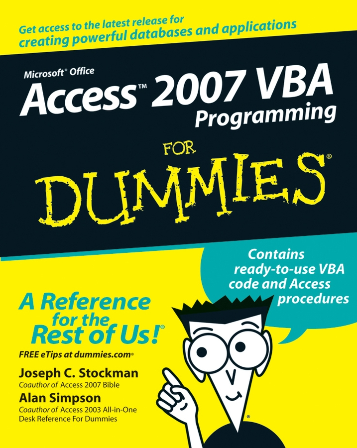 Alan Simpson Access 2007 VBA Programming For Dummies john walkenbach excel vba programming for dummies