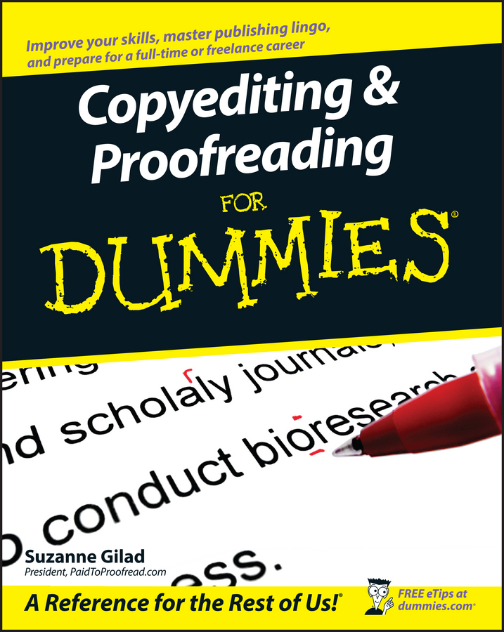 Suzanne Gilad Copyediting and Proofreading For Dummies
