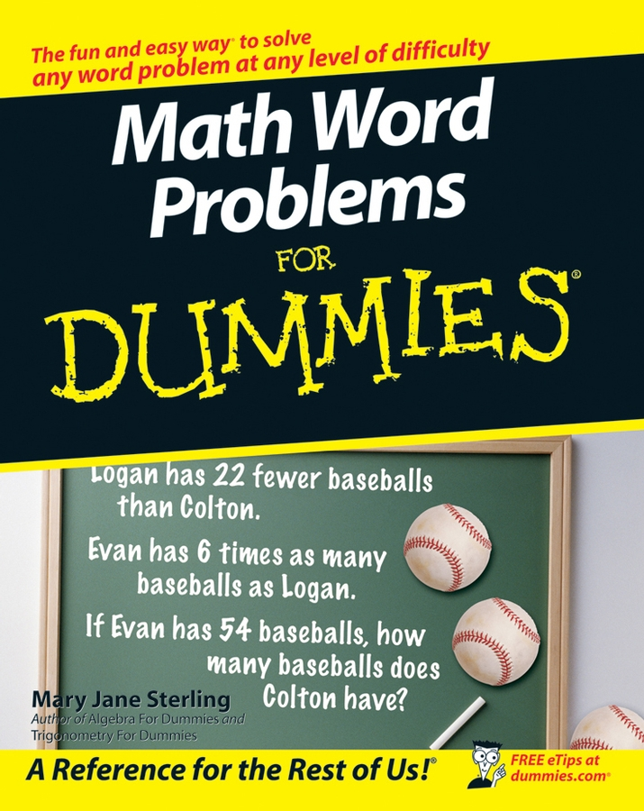 Mary Sterling Jane Math Word Problems For Dummies mary sterling jane math word problems for dummies