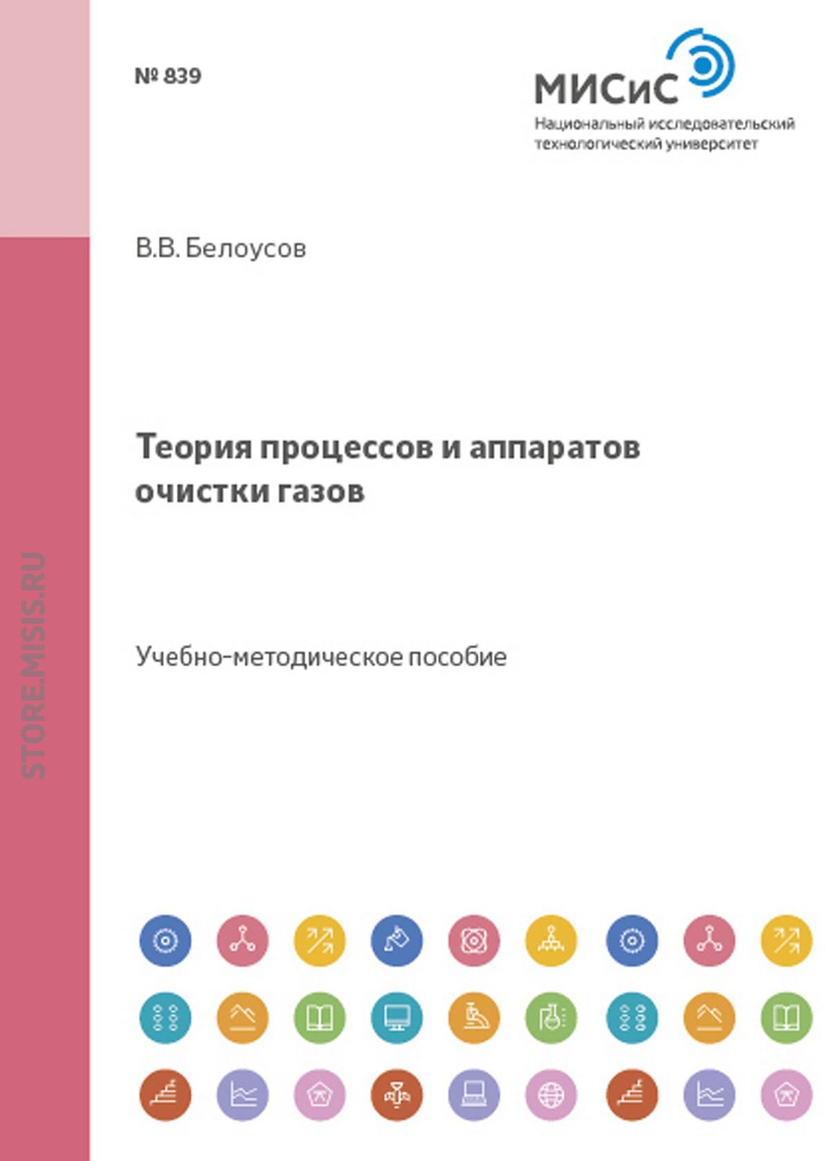 Виталий Белоусов Теория процессов и аппаратов очистки газов
