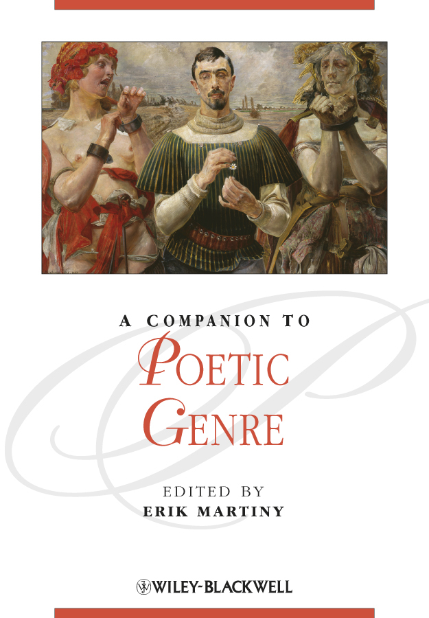 Erik Martiny A Companion to Poetic Genre morphological adaptations specific to rugby players