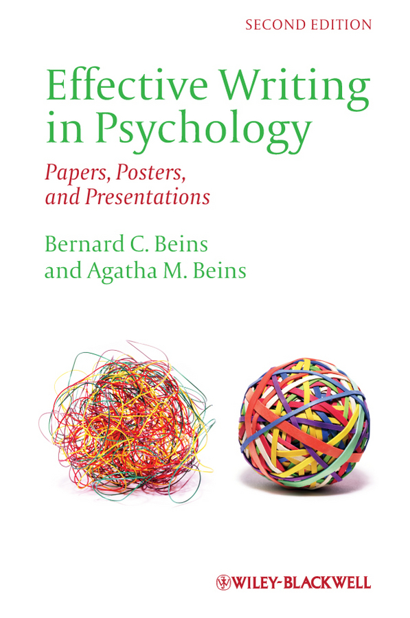 Beins Bernard C. Effective Writing in Psychology. Papers, Posters,and Presentations apa berlitz oslo pocket guide