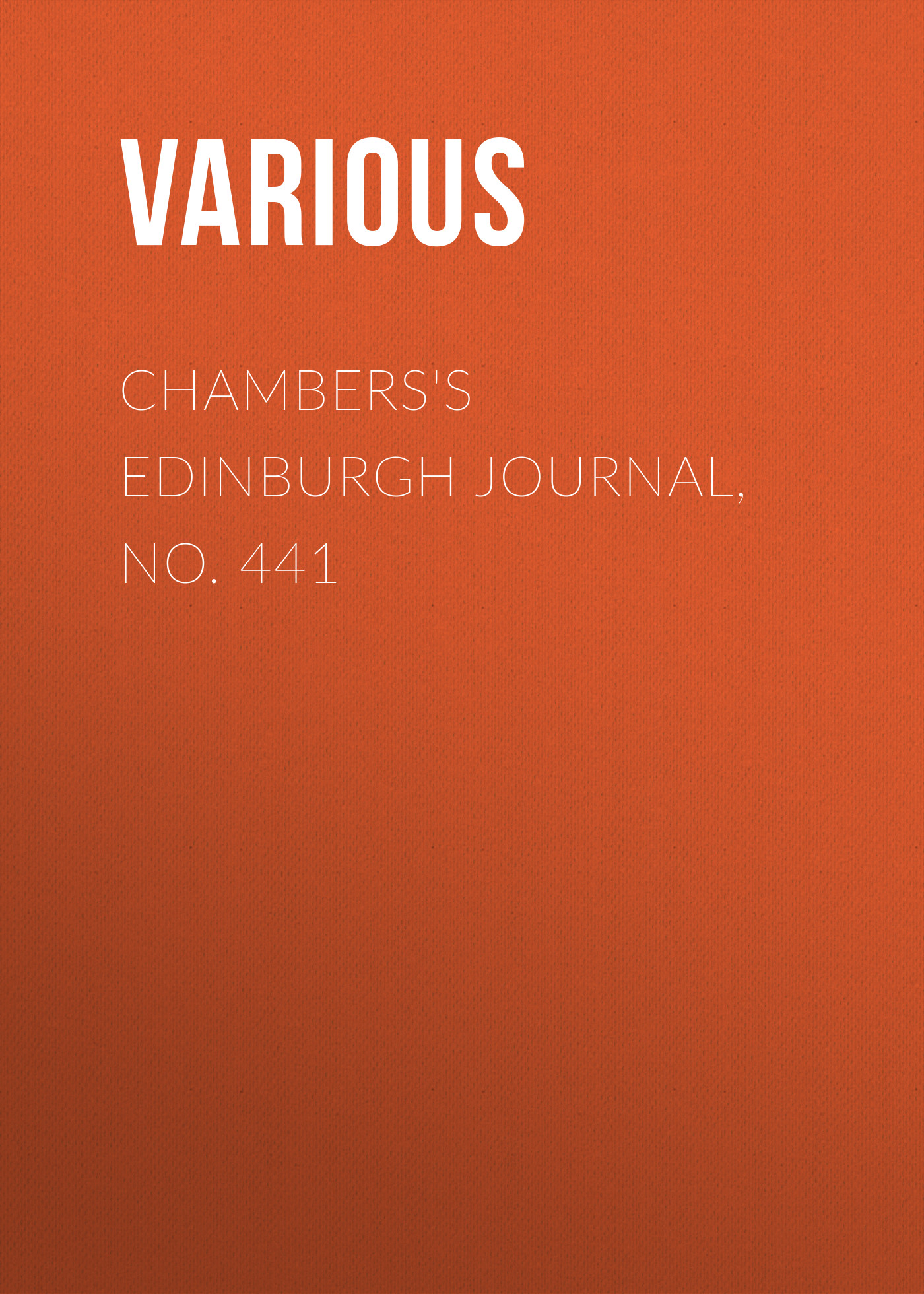 Various Chambers's Edinburgh Journal, No. 441 dara o briain edinburgh