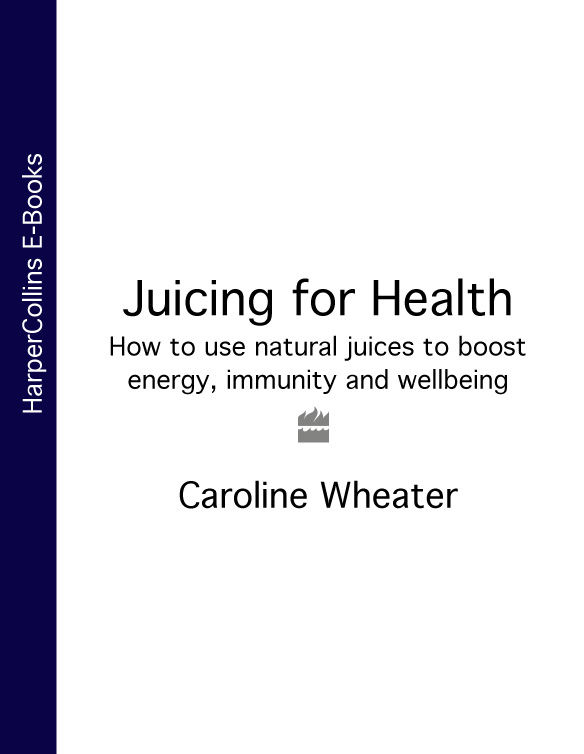 Caroline Wheater Juicing for Health: How to use natural juices to boost energy, immunity and wellbeing energy