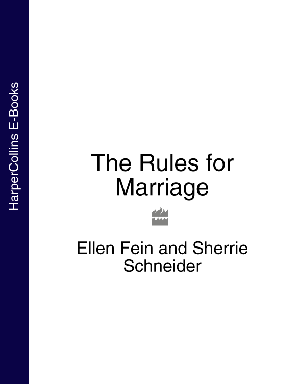 Ellen Fein The Rules for Marriage the cinderella rules