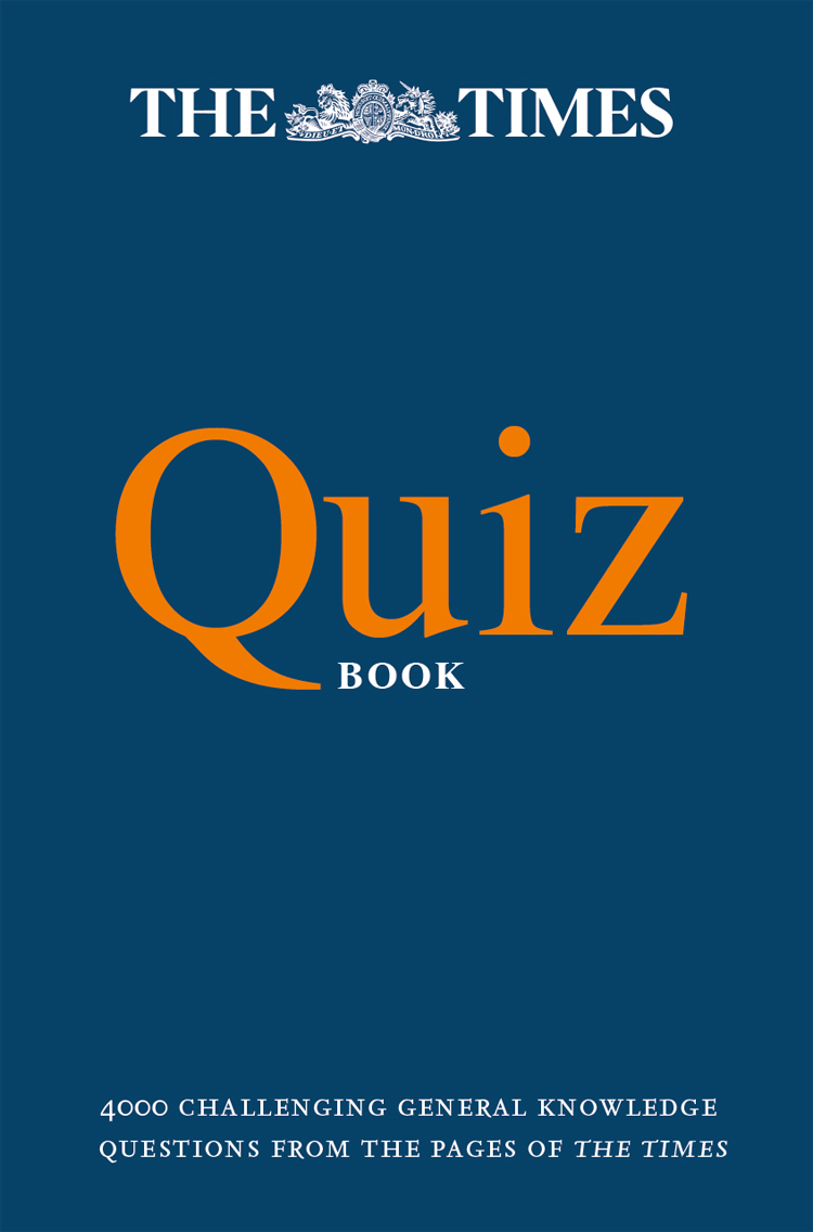 Olav Bjortomt The Times Quiz Book: 4000 challenging general knowledge questions tool quiz