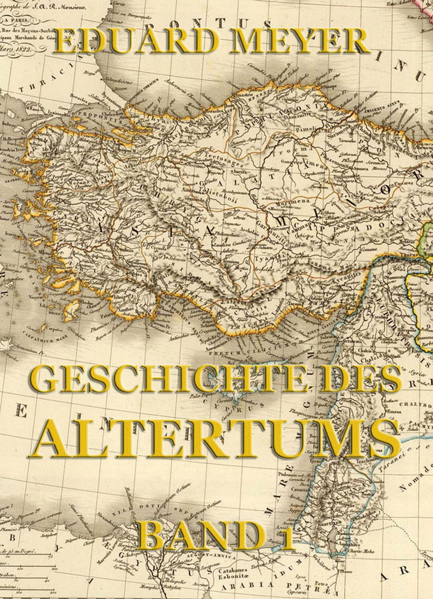 Eduard Meyer Geschichte des Altertums, Band 1