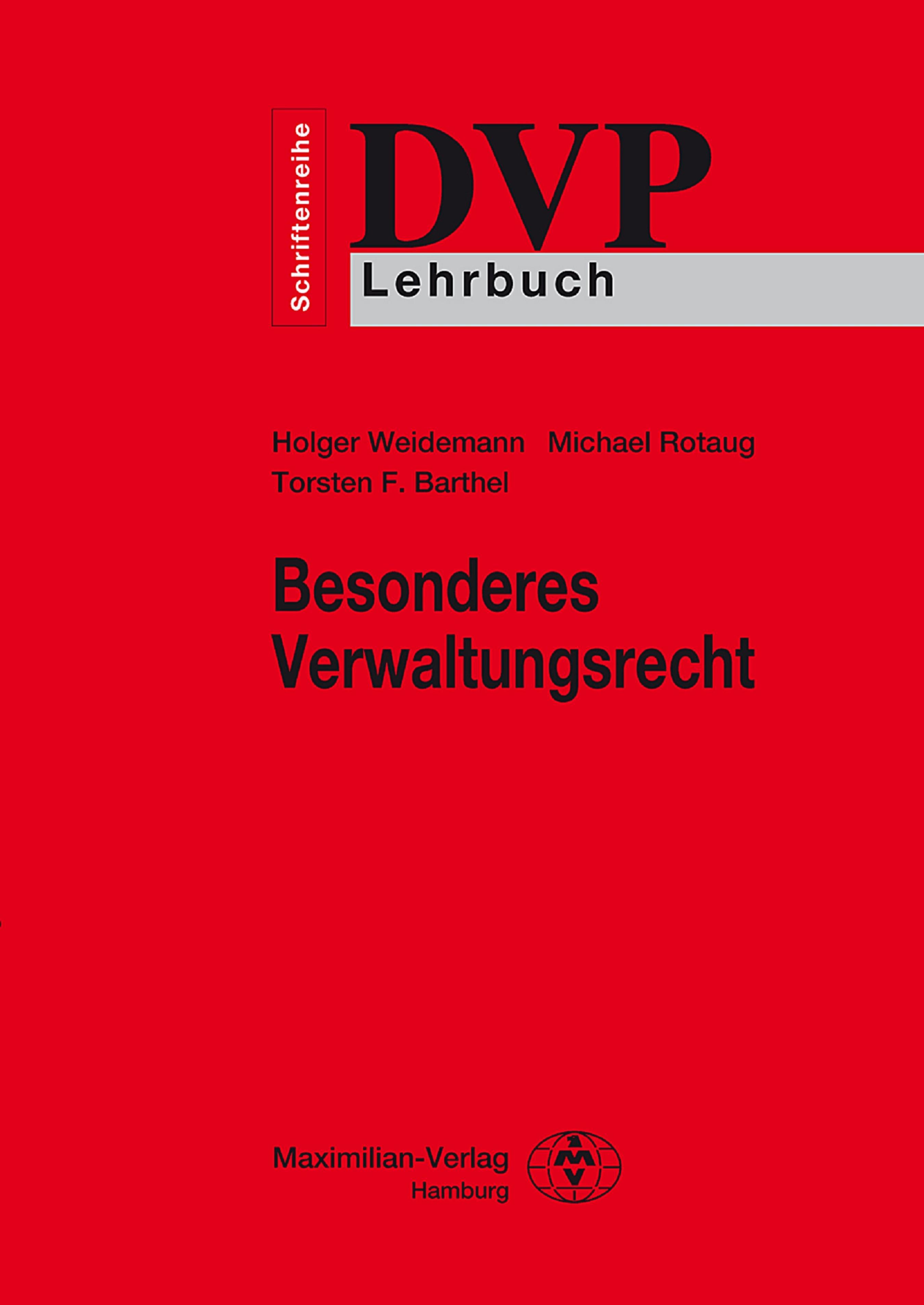 Holger Weidemann Besonderes Verwaltungsrecht