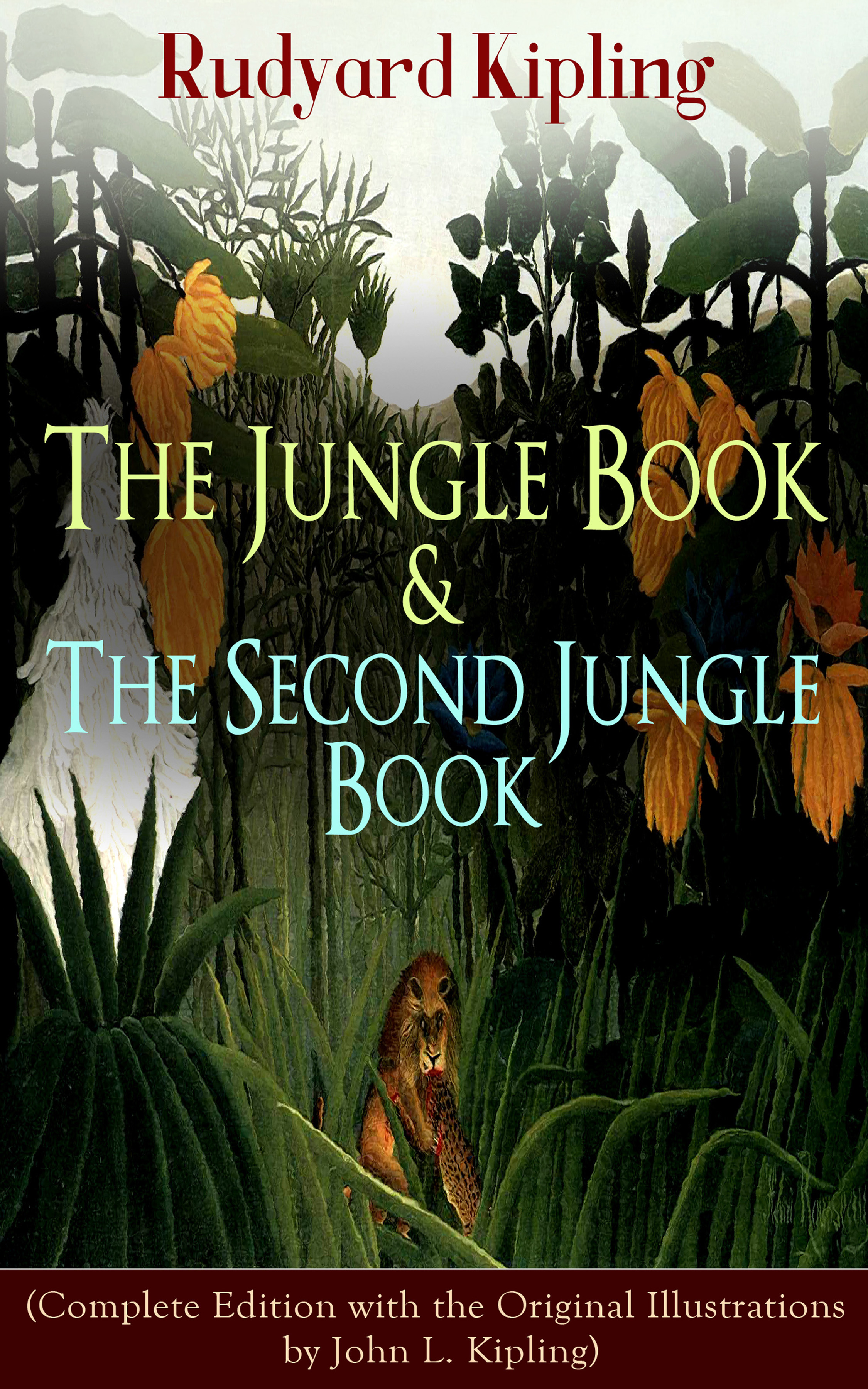 Редьярд Киплинг The Jungle Book & The Second Jungle Book (Complete Edition with the Original Illustrations by John L. Kipling) usborne look inside the jungle