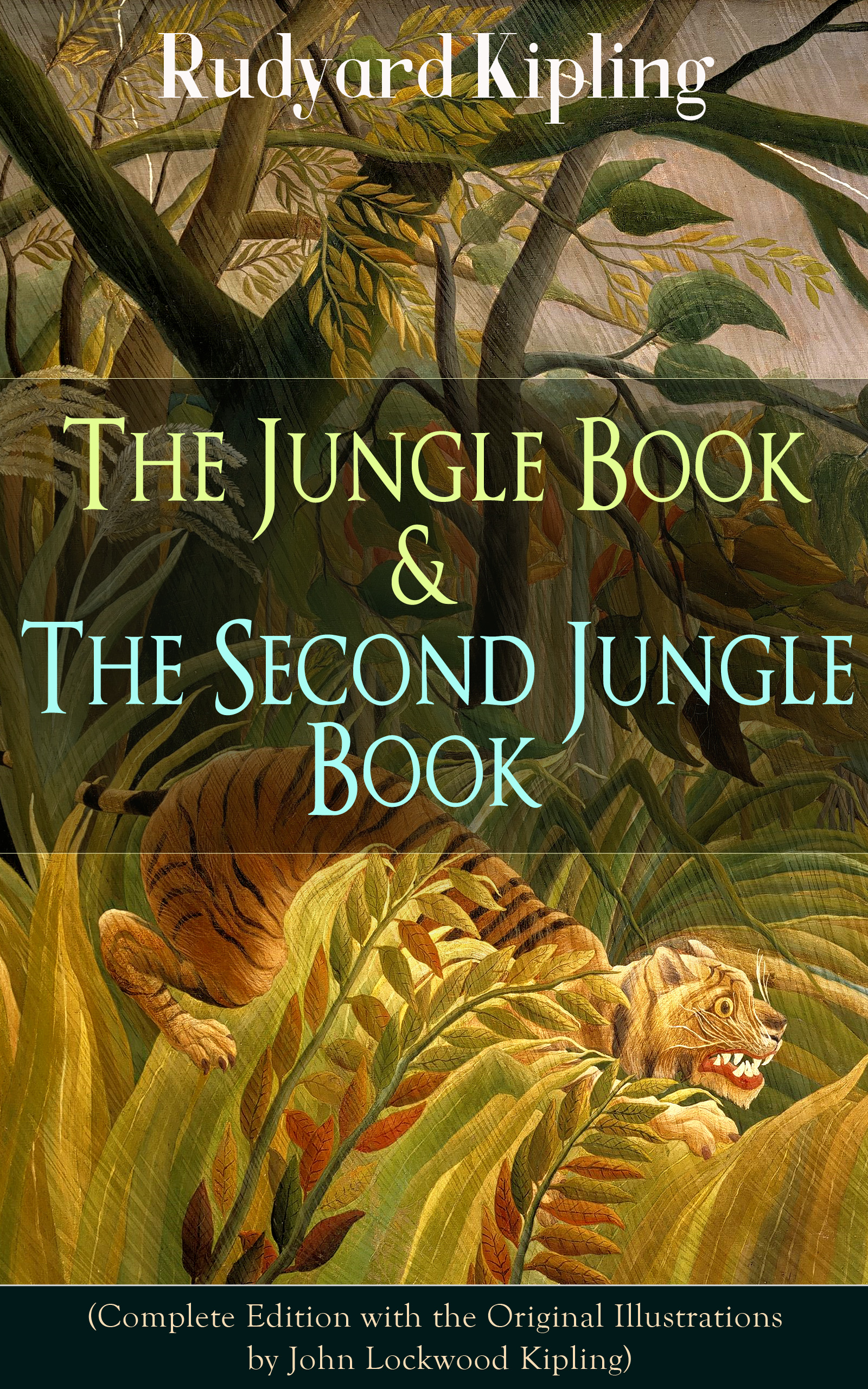 Редьярд Киплинг The Jungle Book & The Second Jungle Book (Complete Edition with the Original Illustrations by John Lockwood Kipling) usborne look inside the jungle