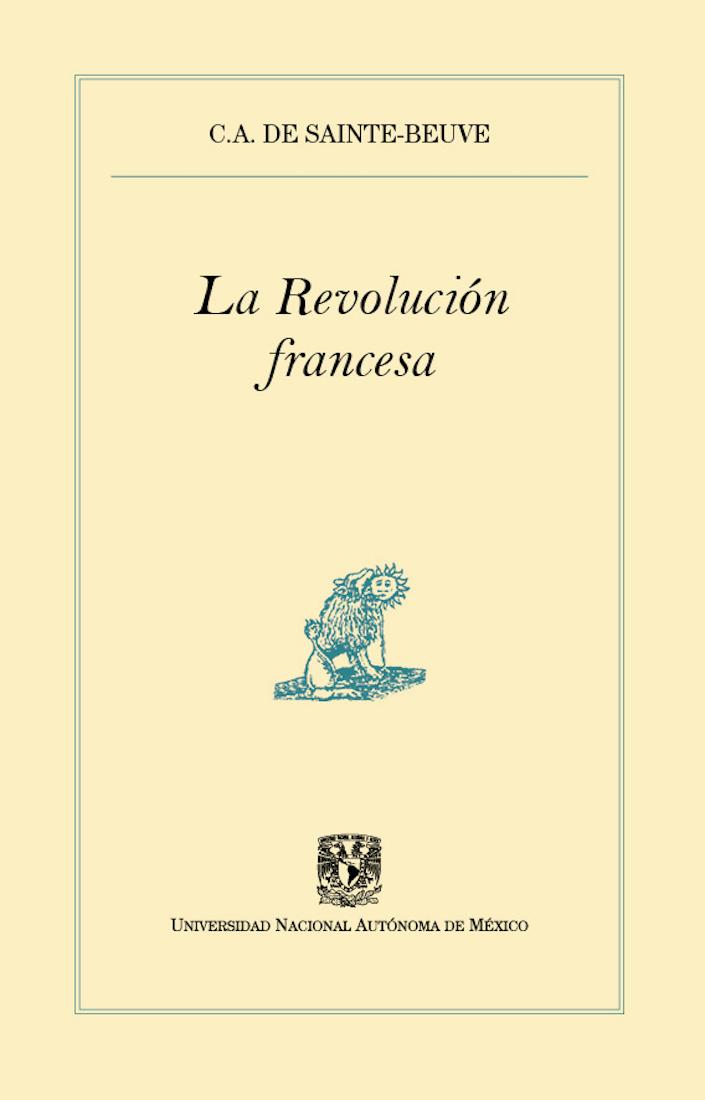 C.A. de Sainte-Beuve La Revolución francesa general yanis macriyanis memorias de la revolución griega de 1821