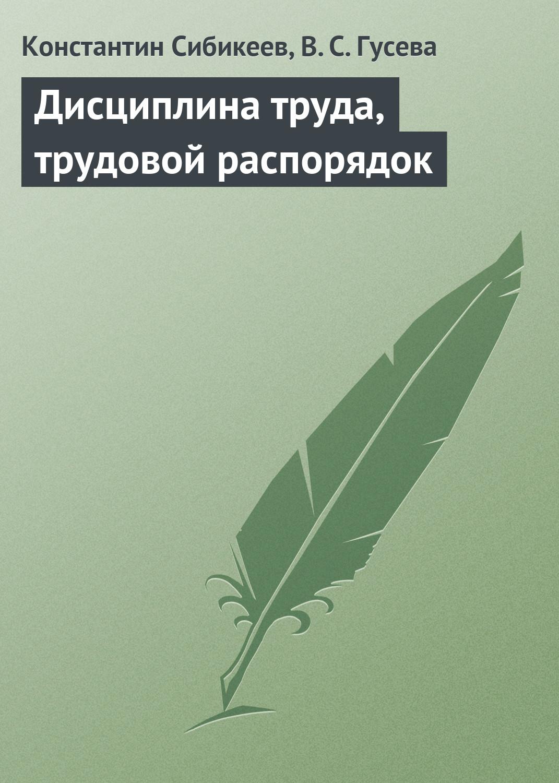 Константин Сибикеев Дисциплина труда, трудовой распорядок