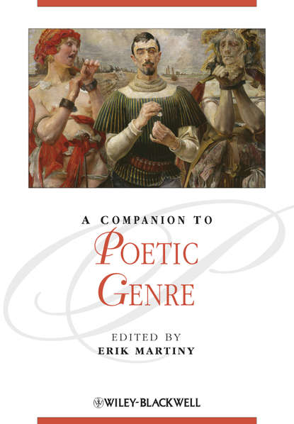 Erik Martiny A Companion to Poetic Genre