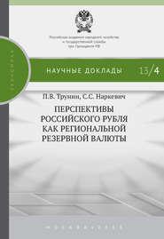 Перспективы российского рубля как региональной резервной валюты