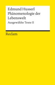Phänomenologie der Lebenswelt. Ausgewählte Texte II