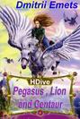 Pegasus, Lion, and Centaur